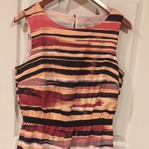 Ann Taylor Loft women's striped dress size medium